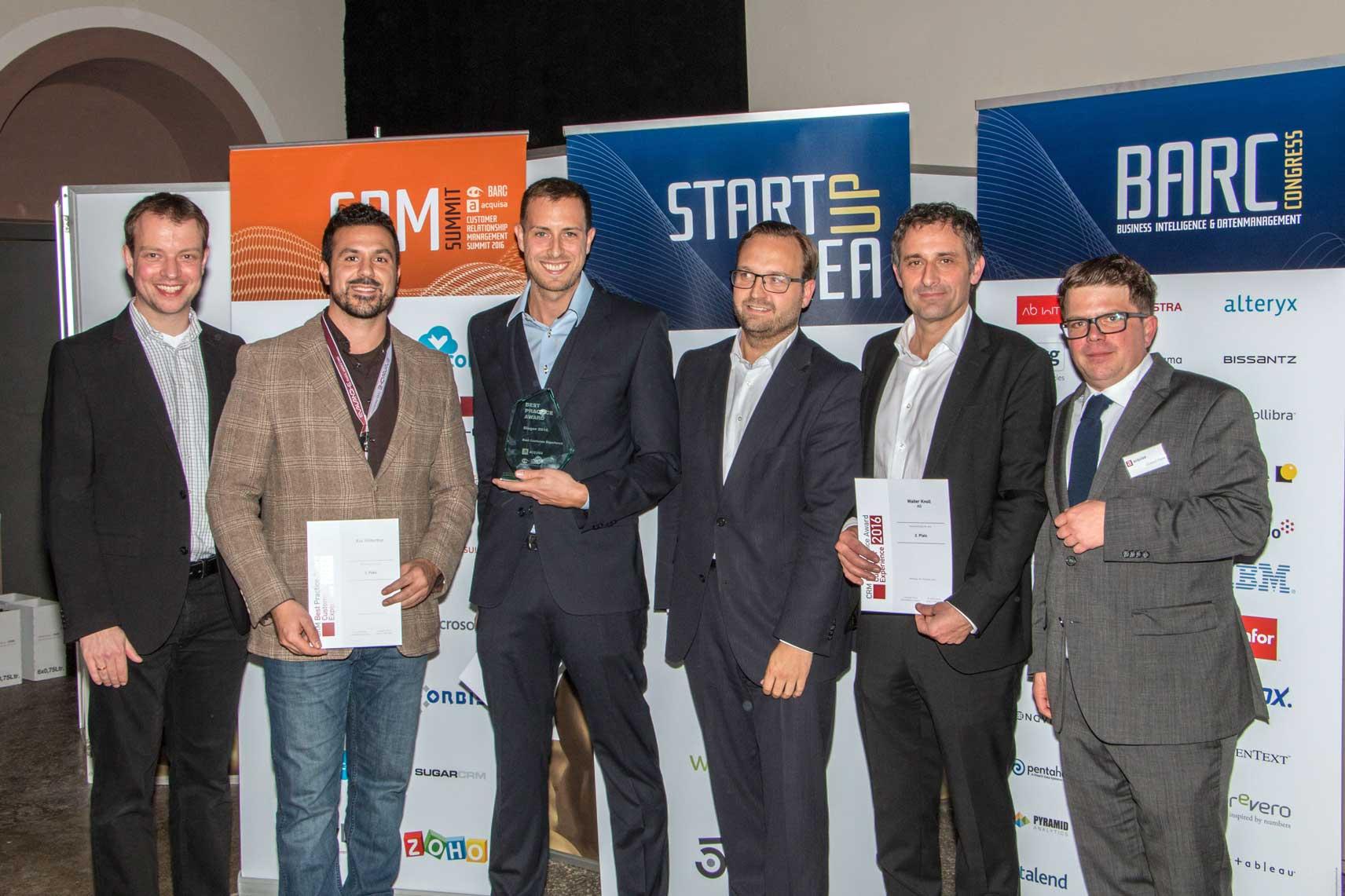 And the winners are… CRM Best Practice Award 2016 für AXA Winterthur