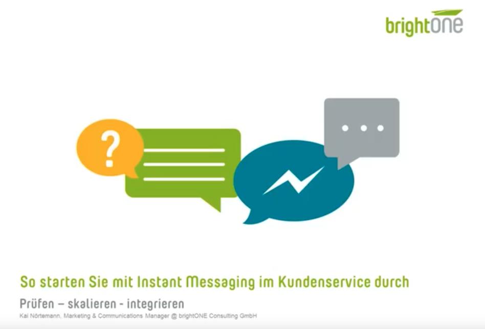 Empfehlung: Webinar – so starten Sie mit Instant Messaging im Kundenservice durch