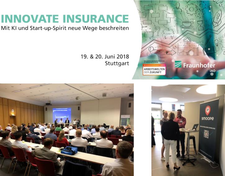 Die smoope GmbH beim Innovate Insurance-Event des Frauenhofer Instituts